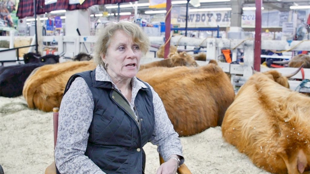 Laura McDowell-May, President of the Highland Cattle Association